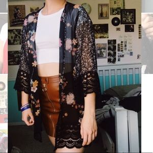 Floral Cardigan/Coverup
